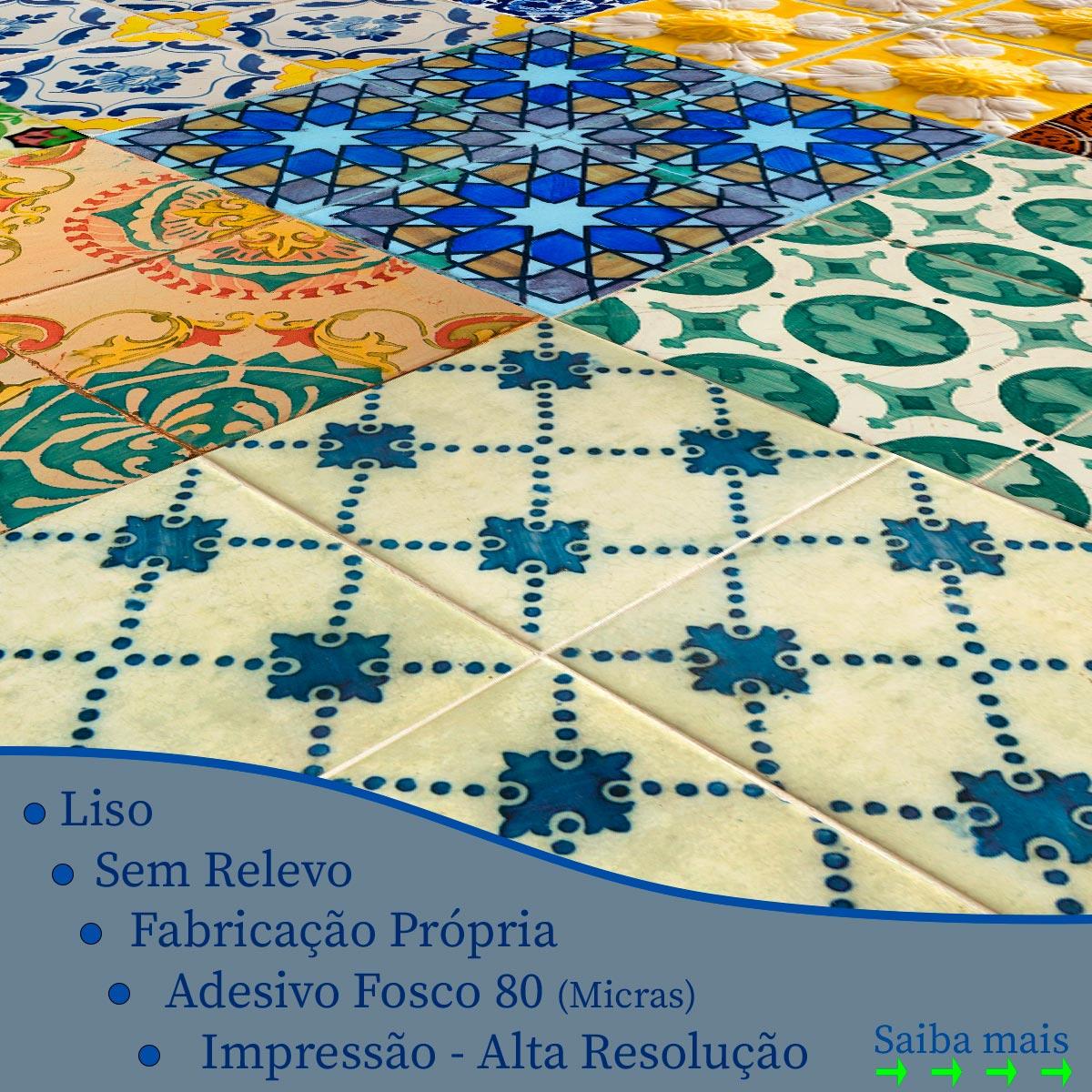 Papel de Parede Azulejo Grego Rústico Vintage Adesivo