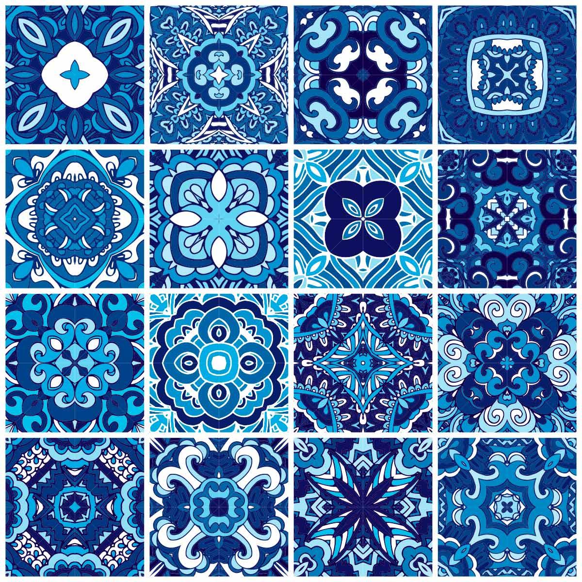 Papel de Parede Azulejo Português Geométrico Adesivo