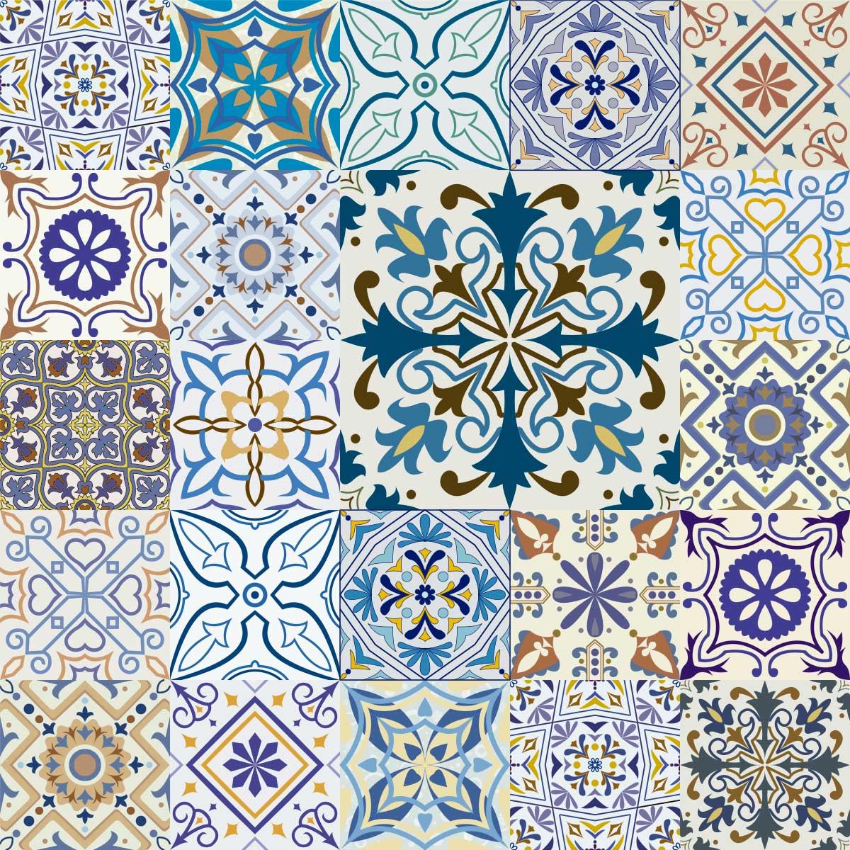 Papel de Parede Azulejo Português Hidráulico Adesivo