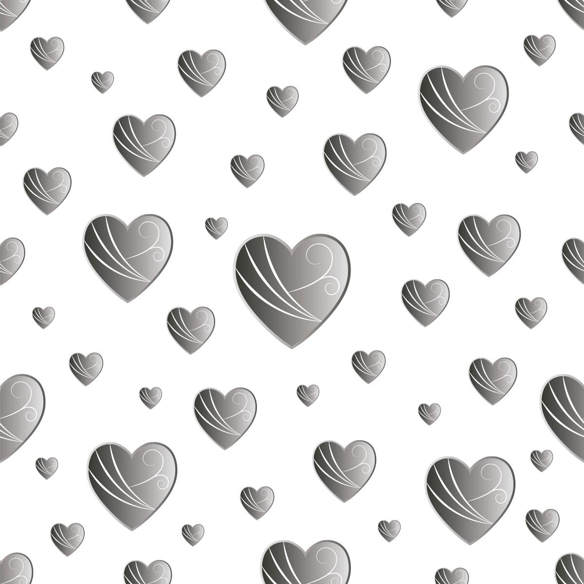 Papel de Parede Coração Degrade Aspecto 3D Adesivo