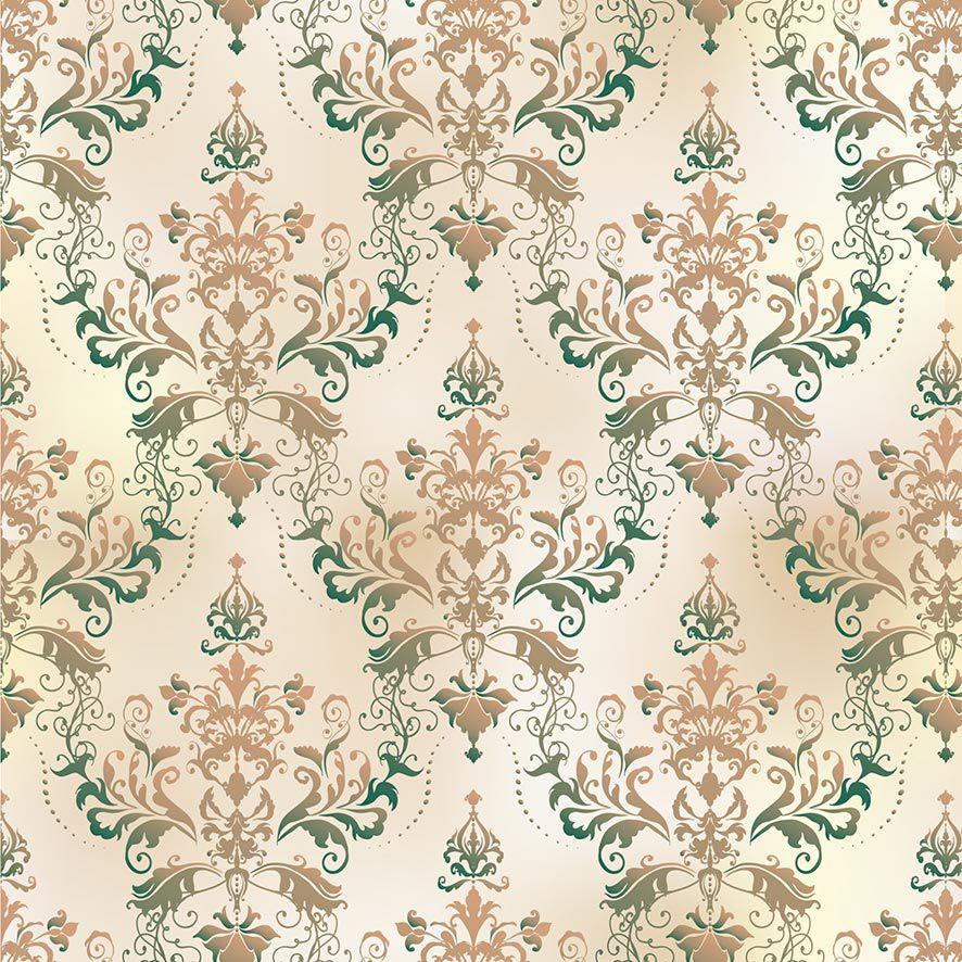 Papel de Parede Damask Floral Glamour Vintage Adesivo P875