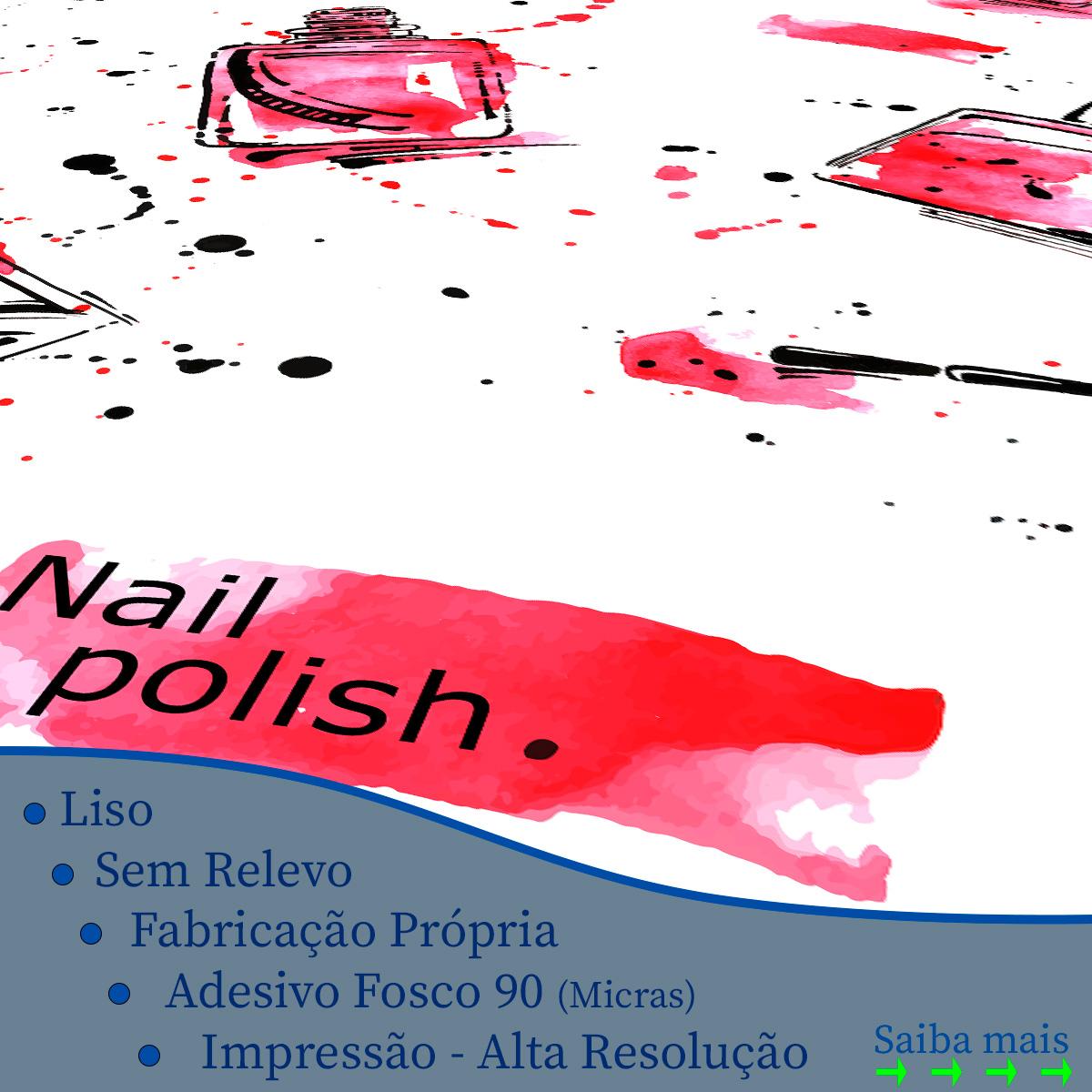 Papel de Parede Esmalteria Nail Polish Esmaltes Adesivo