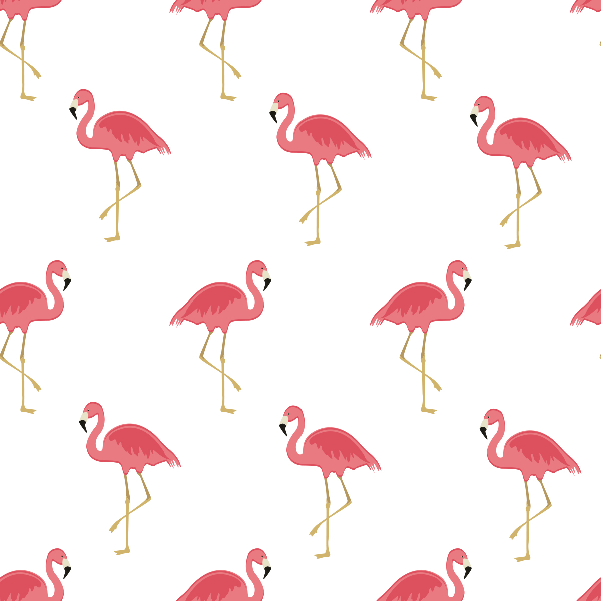 Papel de Parede Flamingo Glamour Adesivo