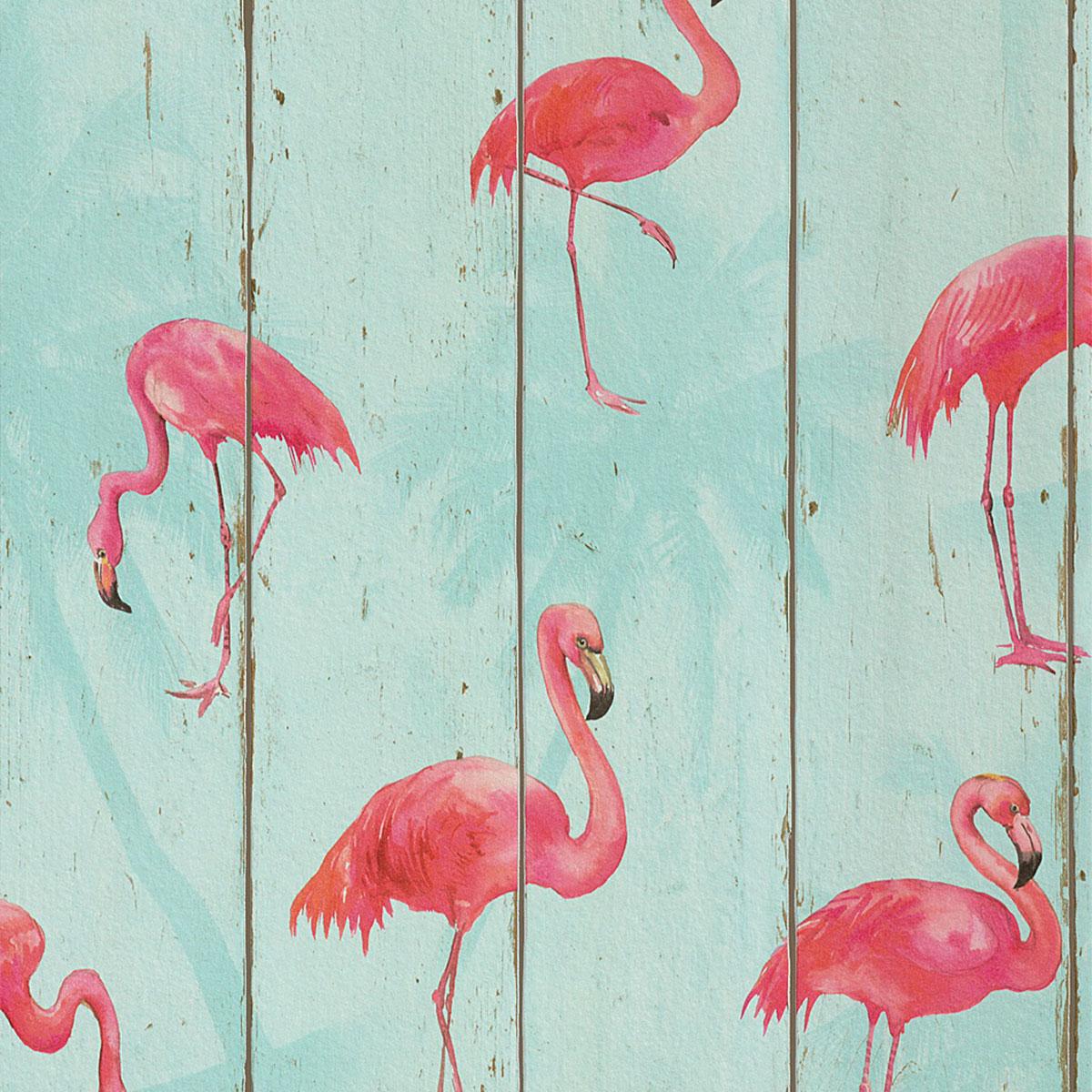 Papel de Parede Flamingo Madeira Rustica Adesivo
