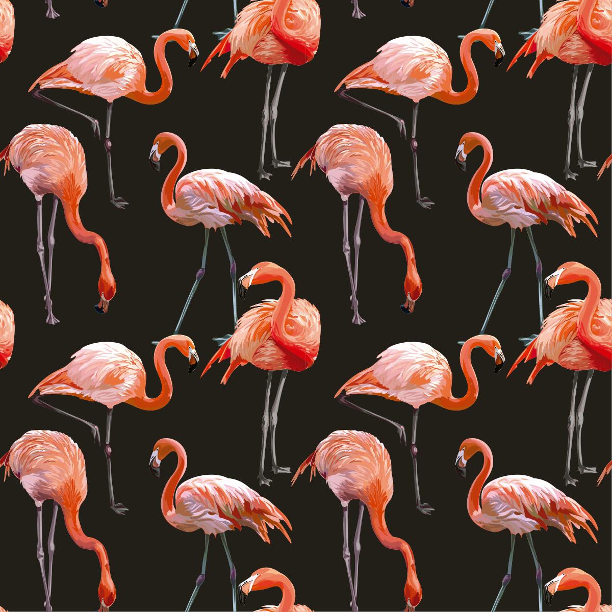 Papel de Parede Flamingos 3D Luxuria Adesivo