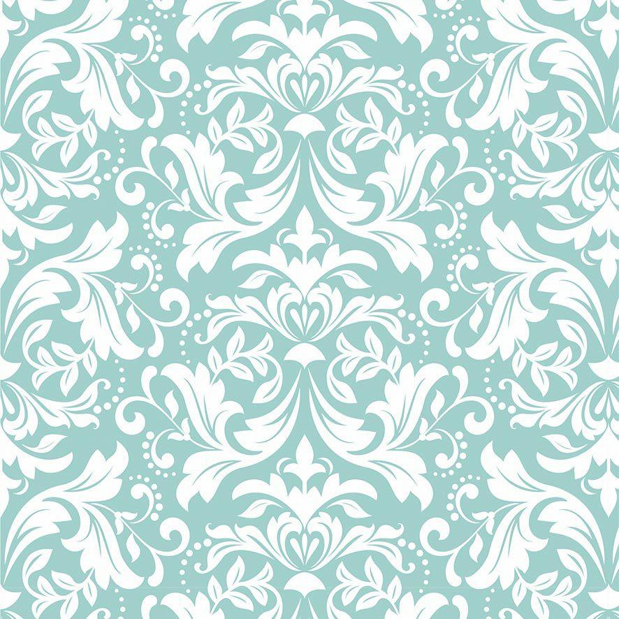 Papel de Parede Floral Arabesco Glamour Folhas Adesivo P854