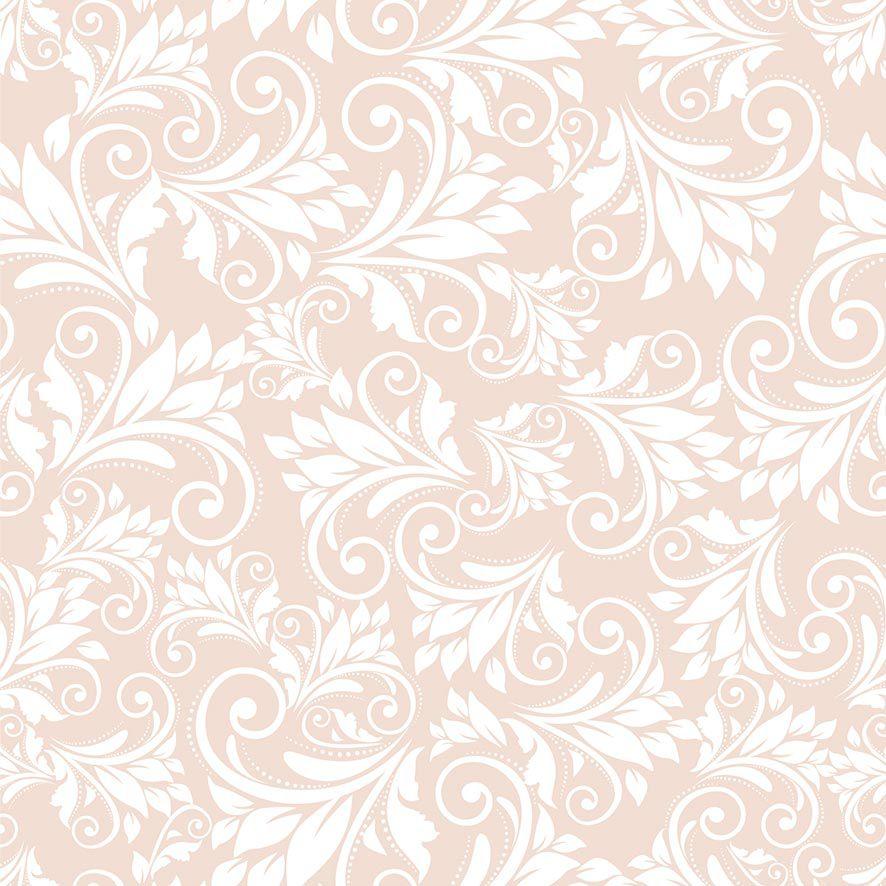 Papel de Parede Floral Arabesco Glamour Folhas Adesivo P861
