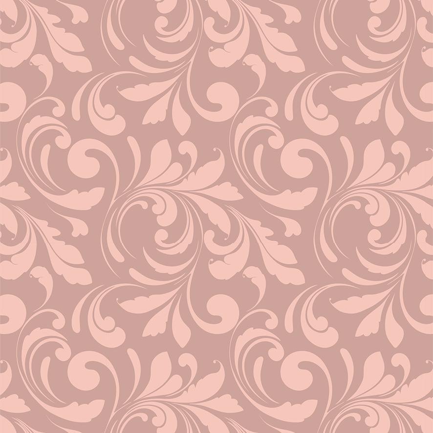 Papel de Parede Floral Arabesco Glamour Adesivo P882