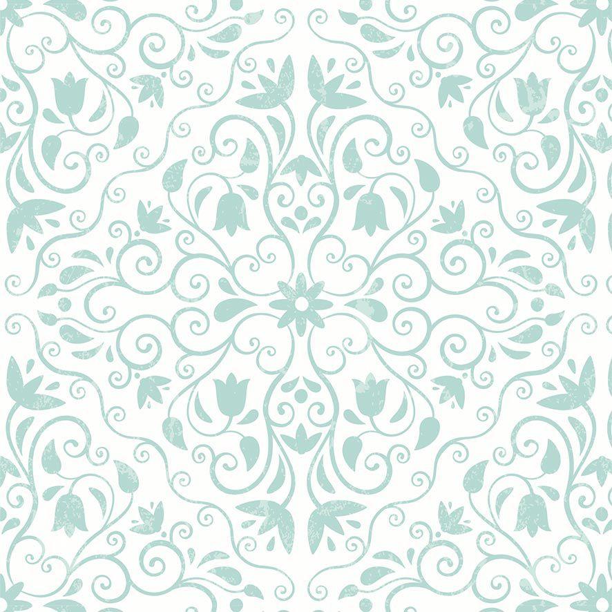 Papel de Parede Floral Damask Galhos Glamour Adesivo P834