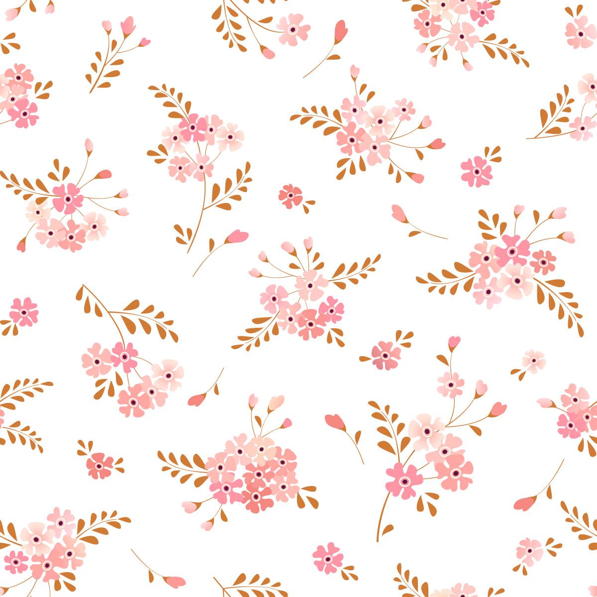 Papel de Parede Floral Flores Rosas Delicado Adesivo