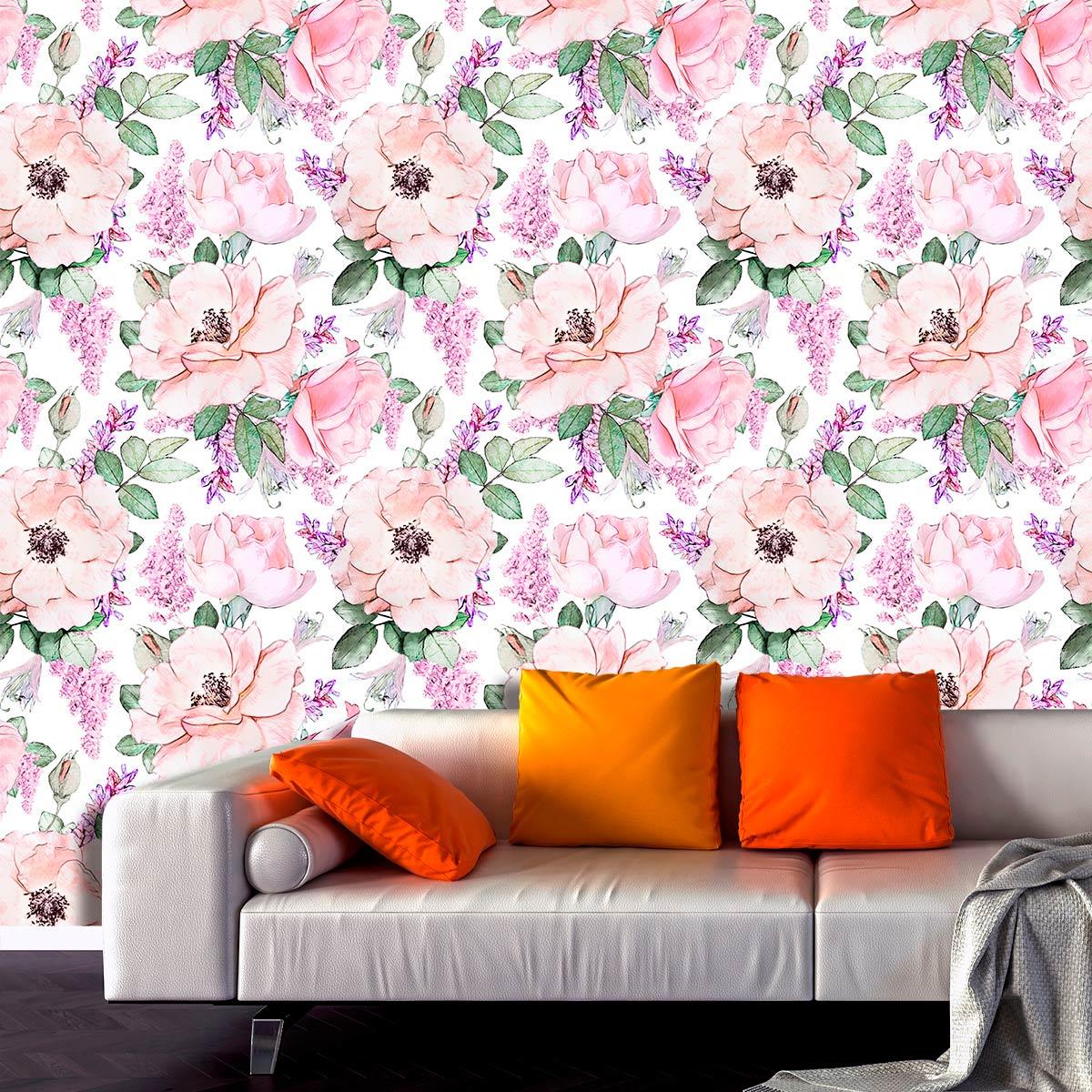 Papel de Parede Floral Flores Tropical Adesivo