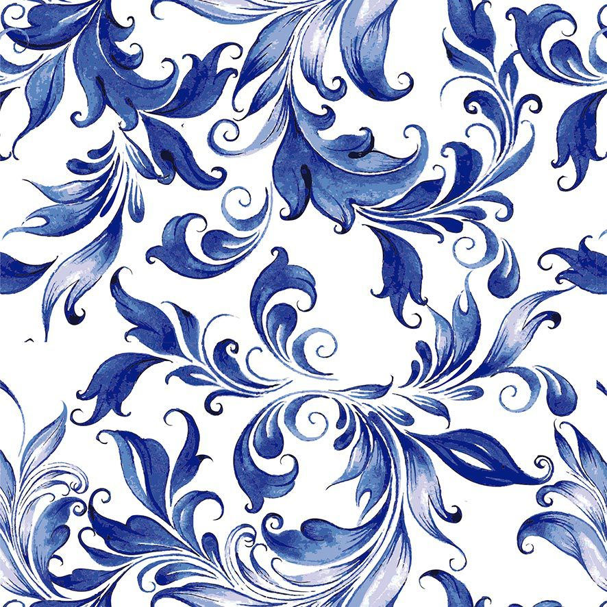 Papel de Parede Floral Folhas Luxo Glamour Adesivo P835