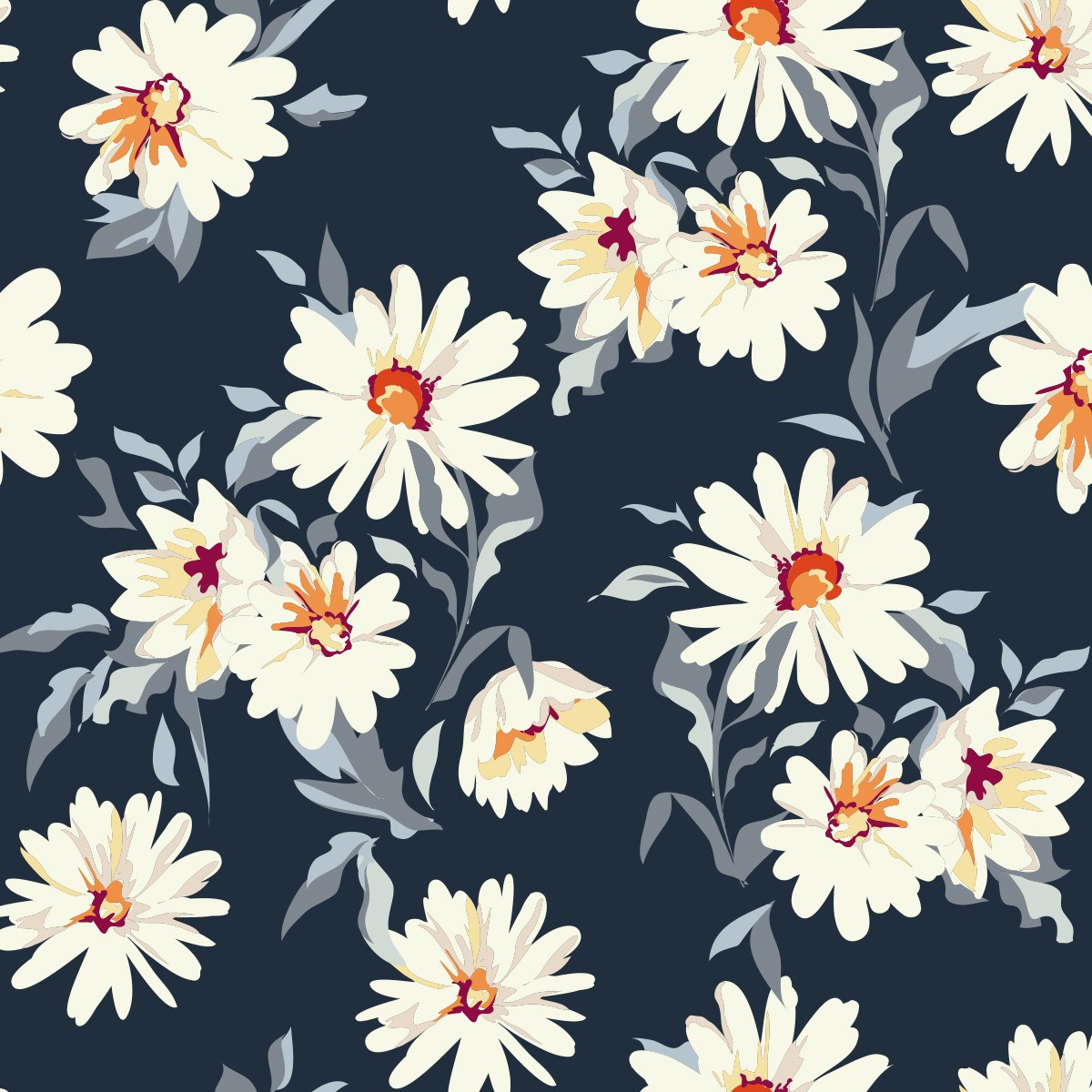 Papel de Parede Flores Petalas Galhos Folhas Glamour Adesivo