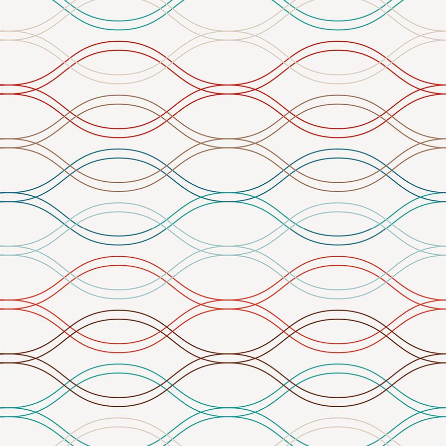 Papel de Parede Geométrico Ondulado Linhas Adesivo P832