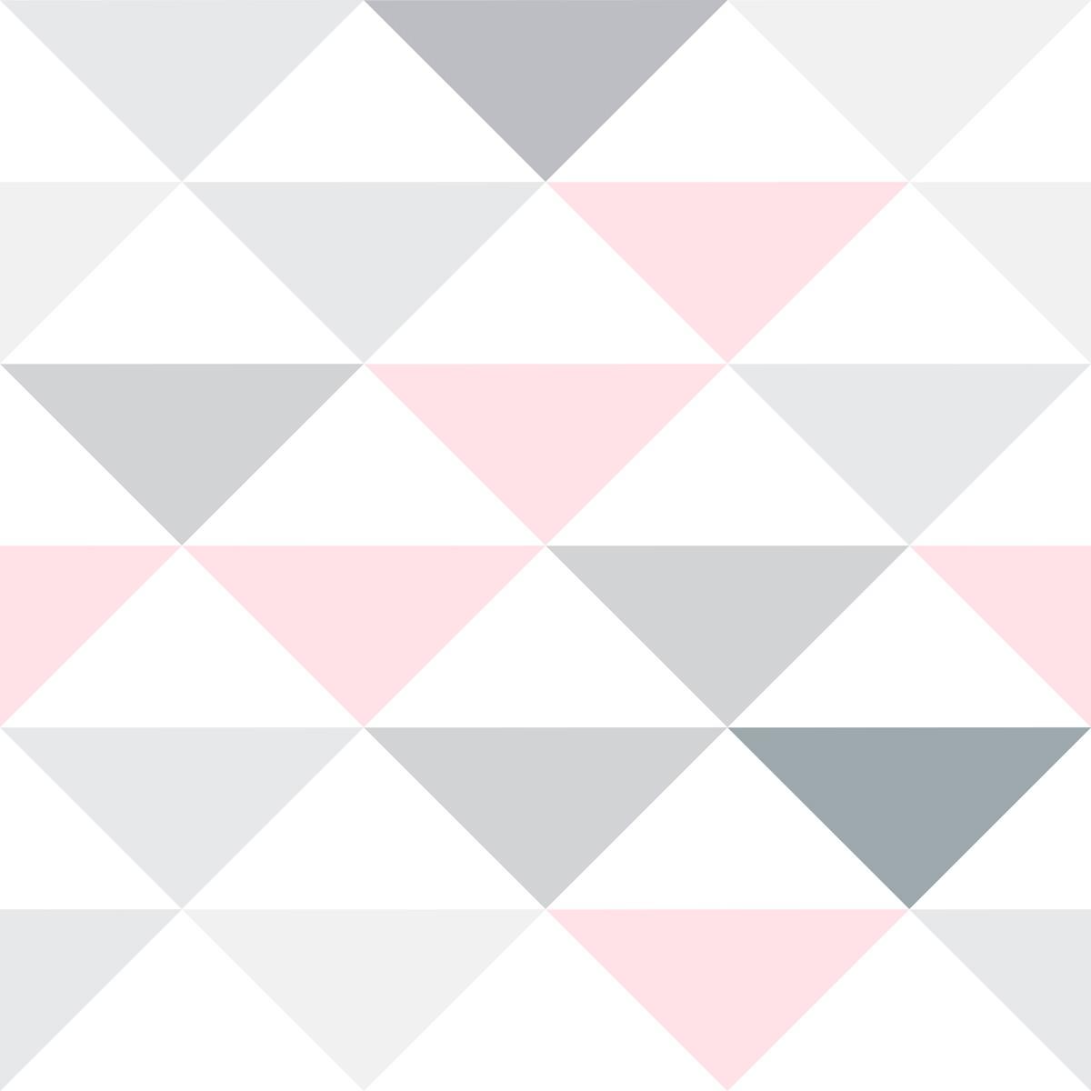 Papel de Parede Geométrico Triângulos Diversas Cores Adesivo