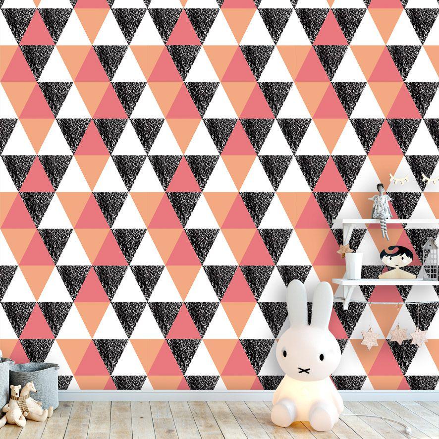 Papel de Parede Geométrico Triângulos Infantil Adesivo P857