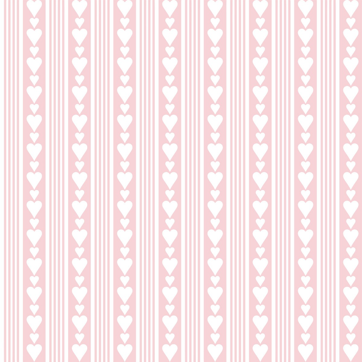 Papel de Parede Listrado Corações Love Adesivo