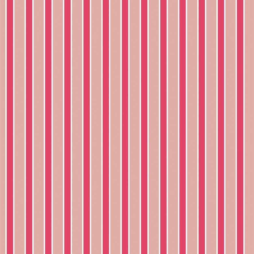 Papel de Parede Listrado Faixas Tons Rosa Adesivo P864