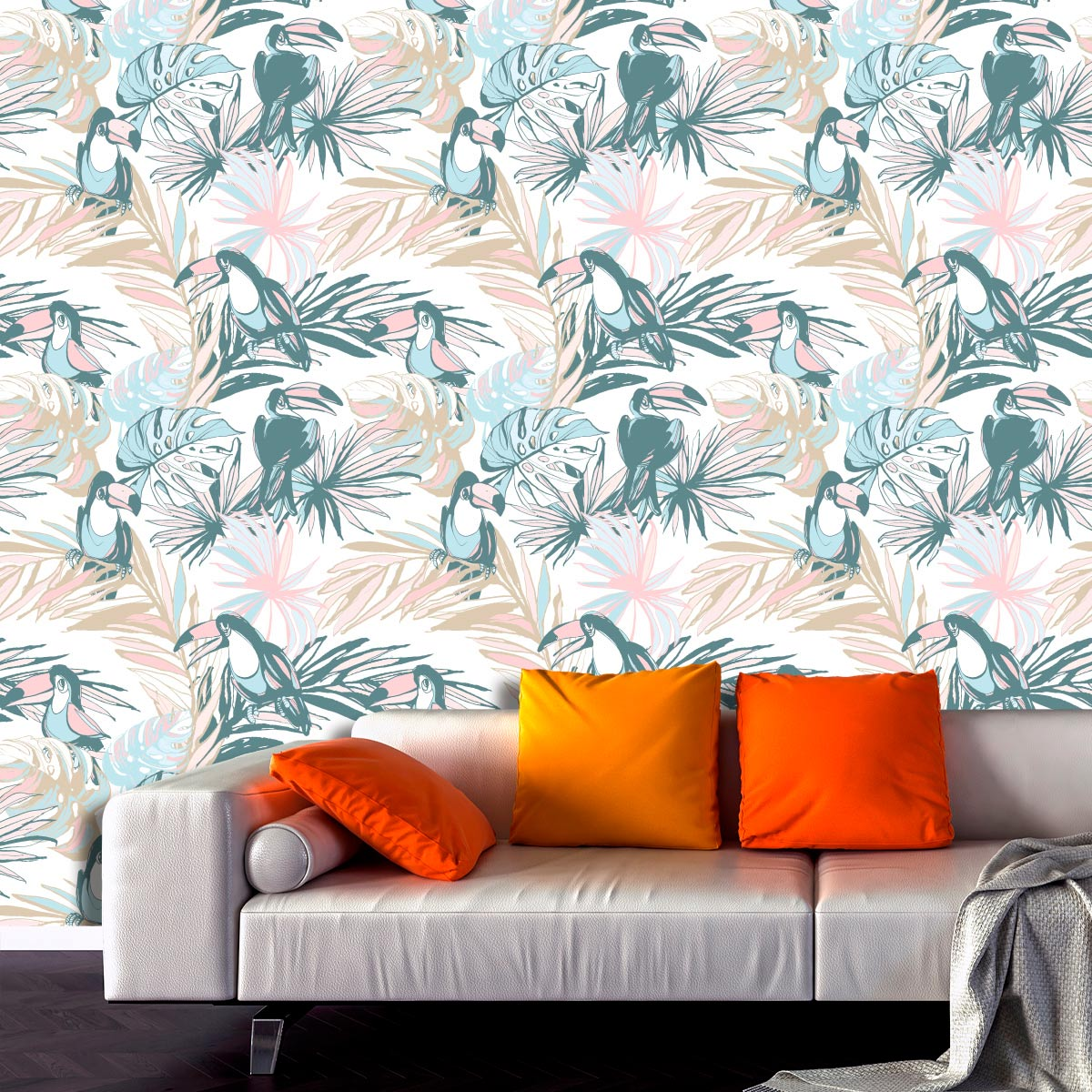 Papel de Parede Natureza Tucanos Tropical Adesivo
