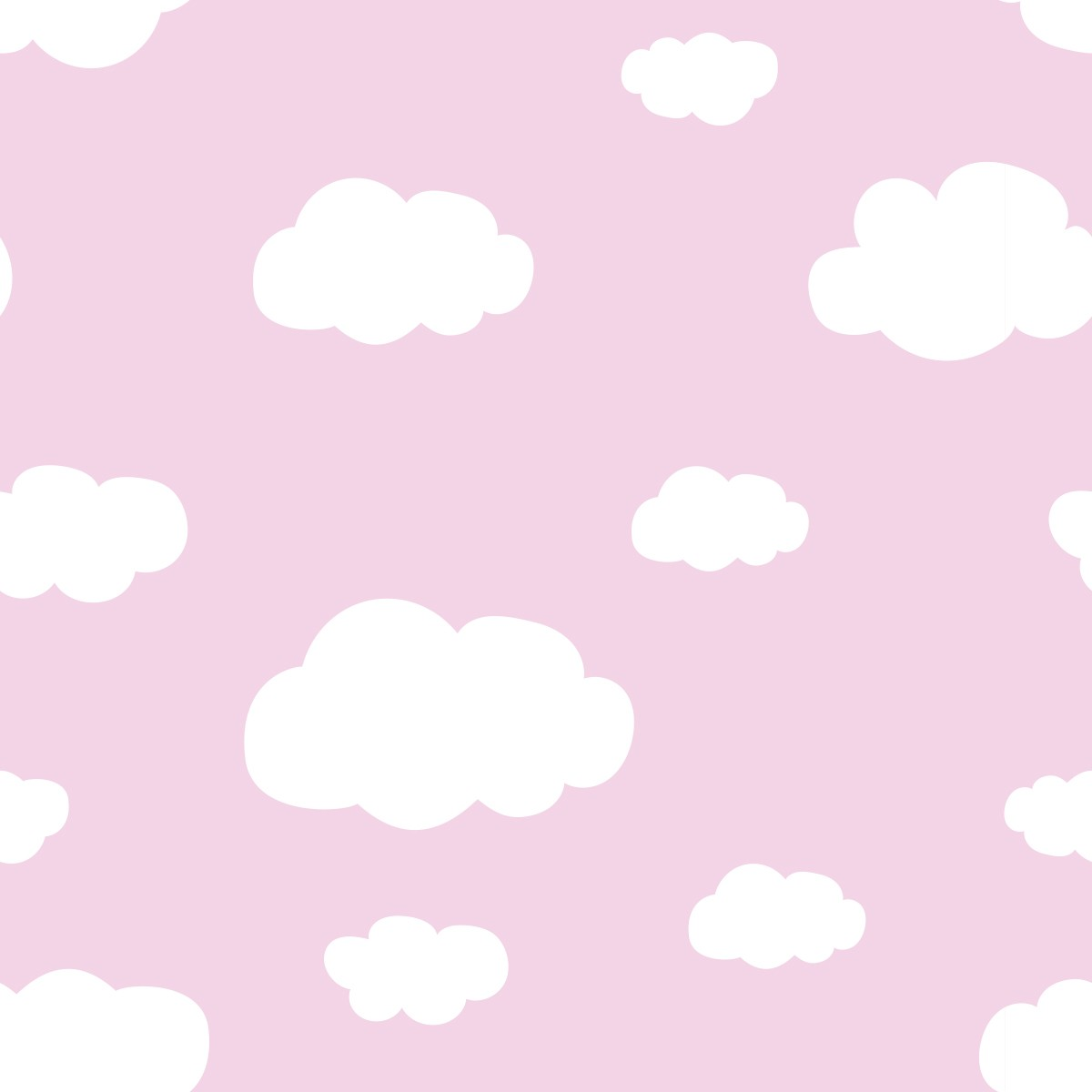 Papel de Parede Nuvens Cute Céu Bebê Adesivo