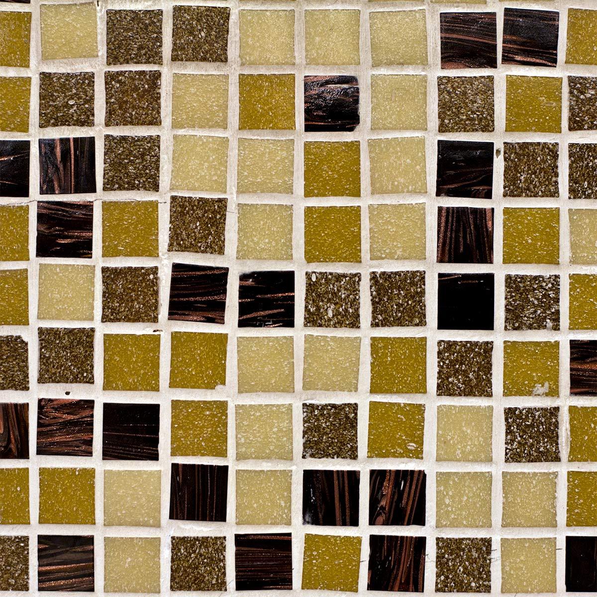 Papel de Parede Pastilha Rústica Tons Diversos Adesivo P185