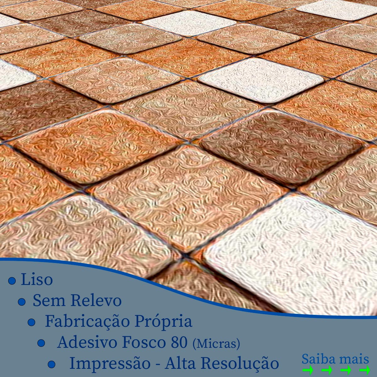Papel de Parede Pastilhas Pedras 3D Rustica Adesivo