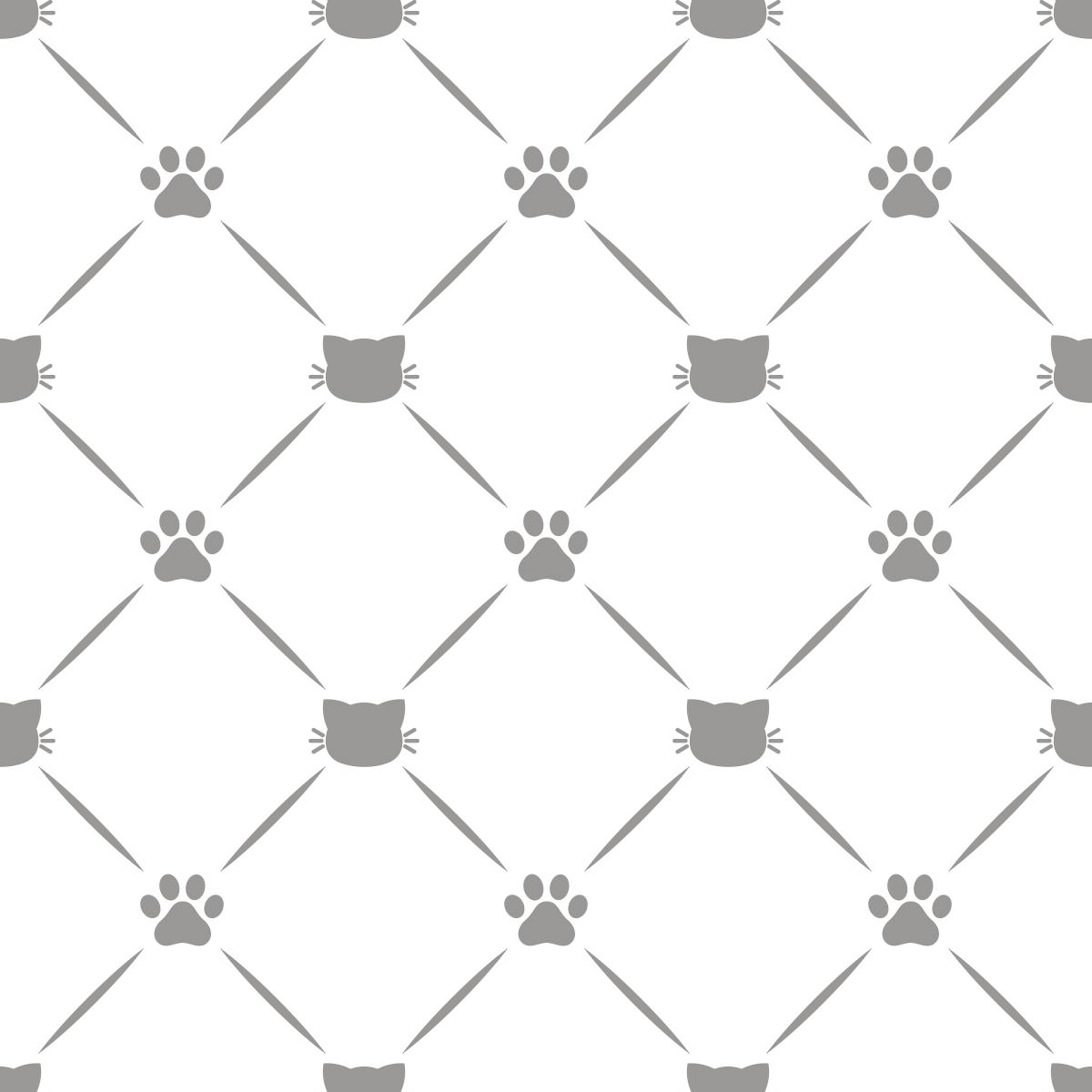 Papel de Parede Pet Shop Patas Pet Gatos Adesivo