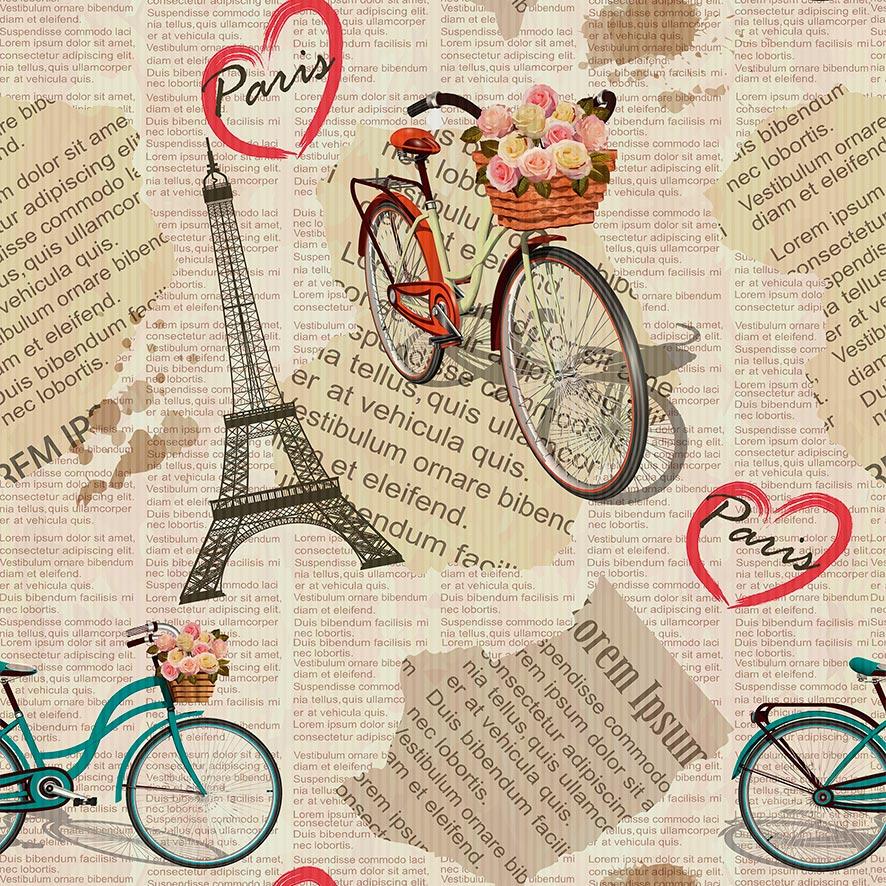 Papel de Parede Retalho de Jornal Paris Love Vintage Adesivo P888