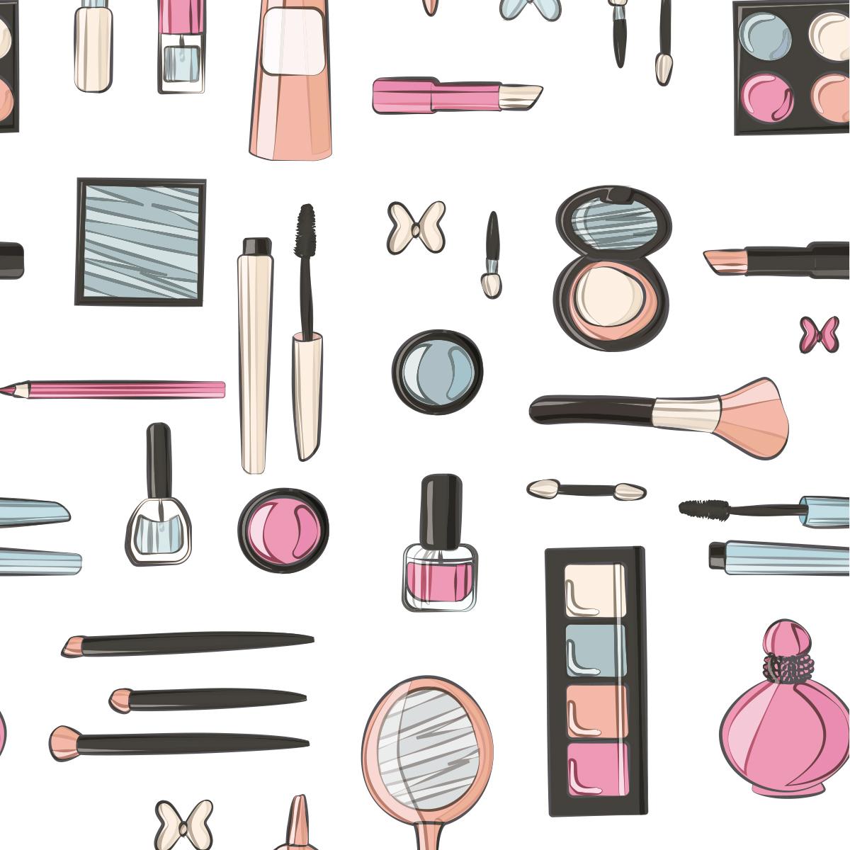 Papel de Parede Temático Salão Makeup Adesivo