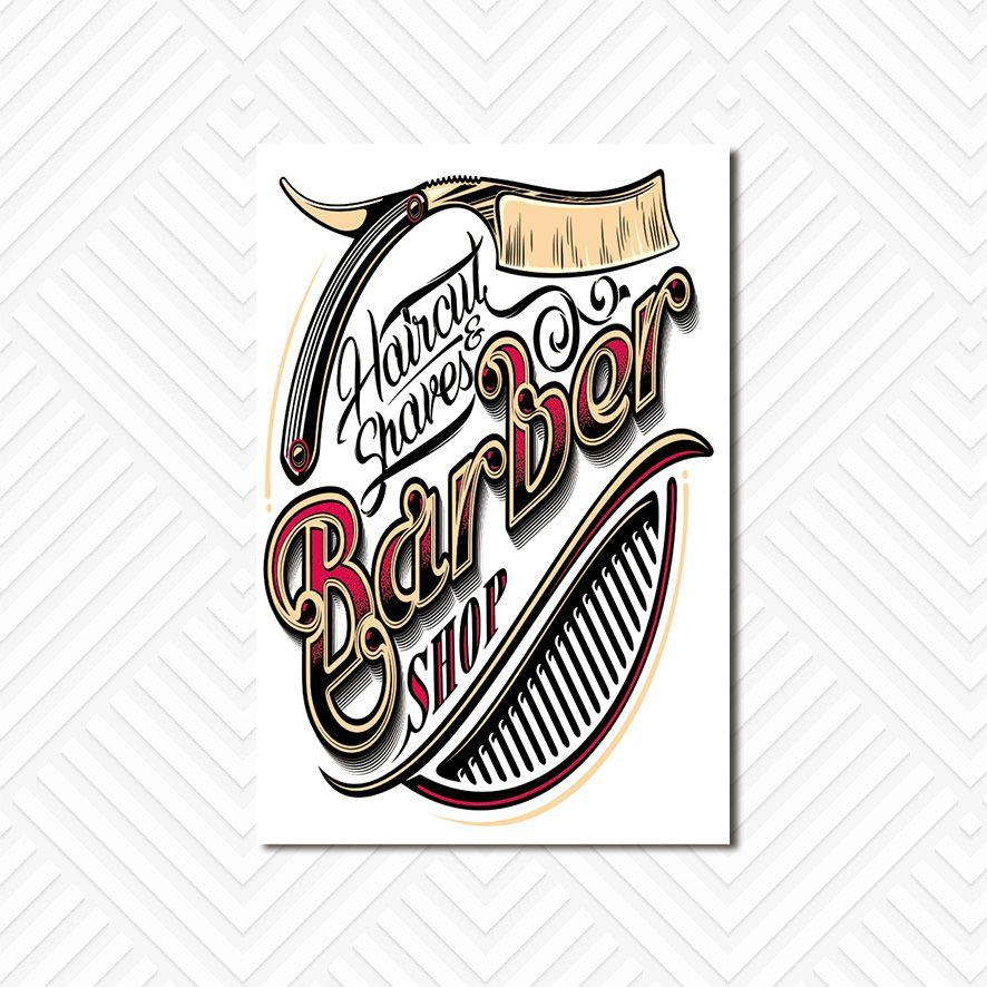 Poster Decorativo Barber Shop PL017B