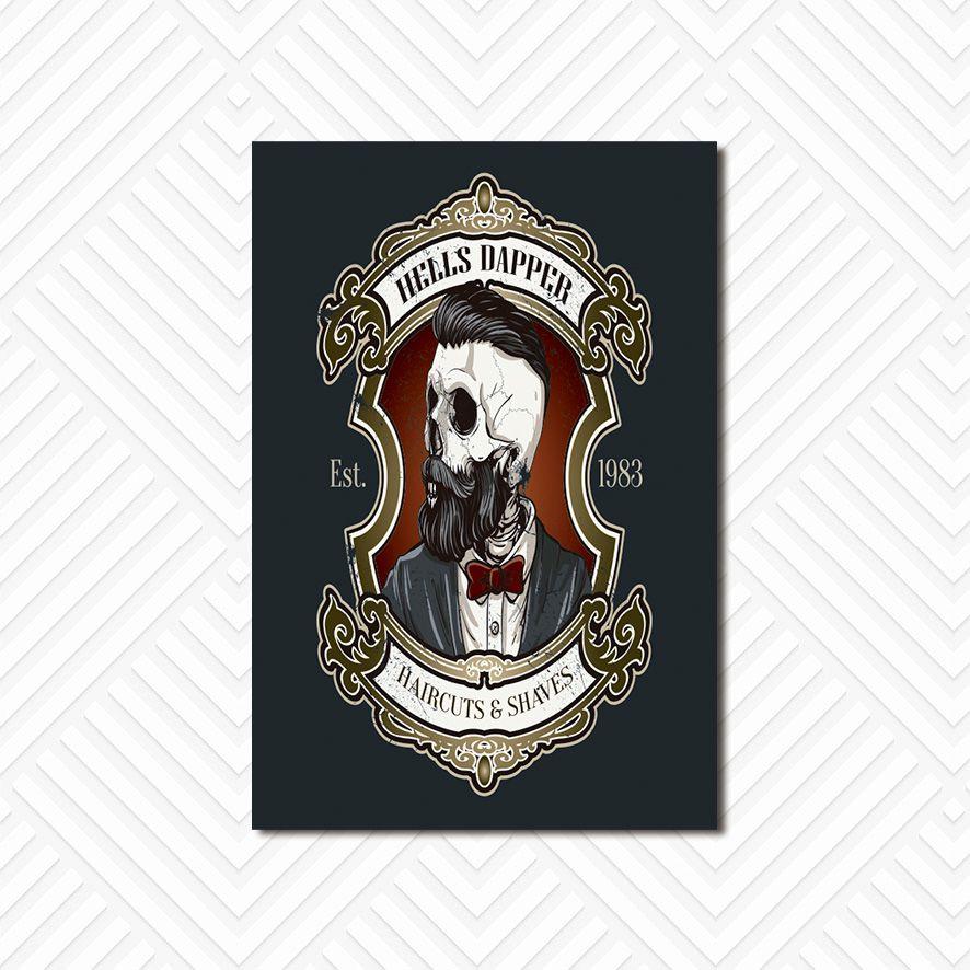 Poster Decorativo Barber Shop PL022