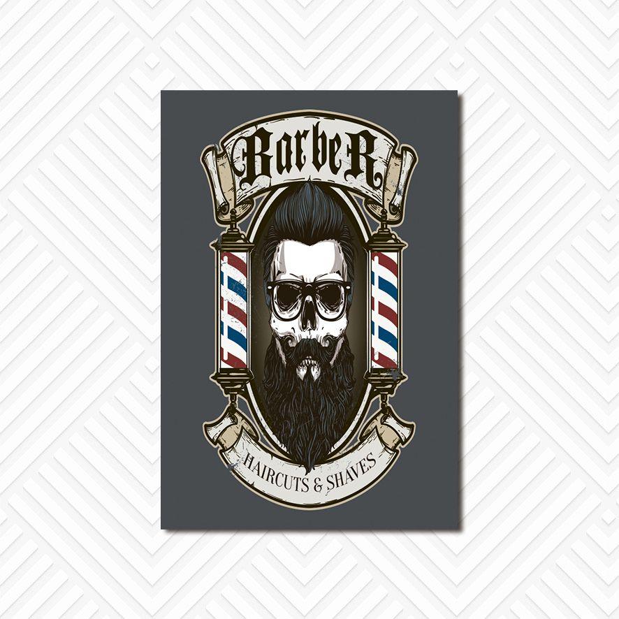 Poster Decorativo Barber Shop PL023