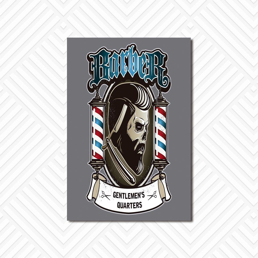 Poster Decorativo Barber Shop PL024