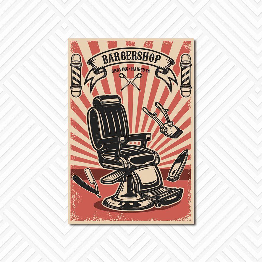 Poster Decorativo Barber Shop PL026