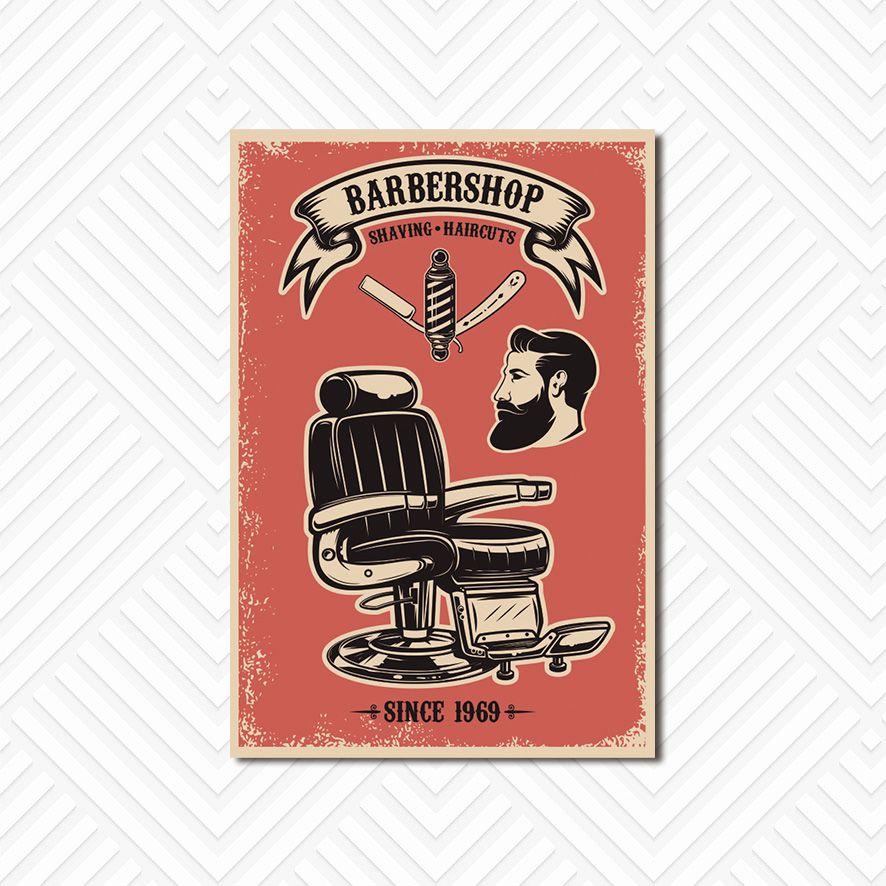 Poster Decorativo Barber Shop PL027