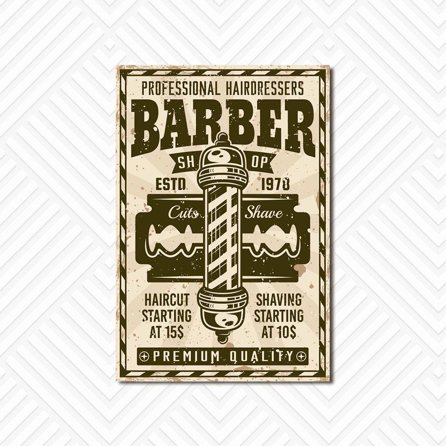 Poster Decorativo Barber Shop PL029