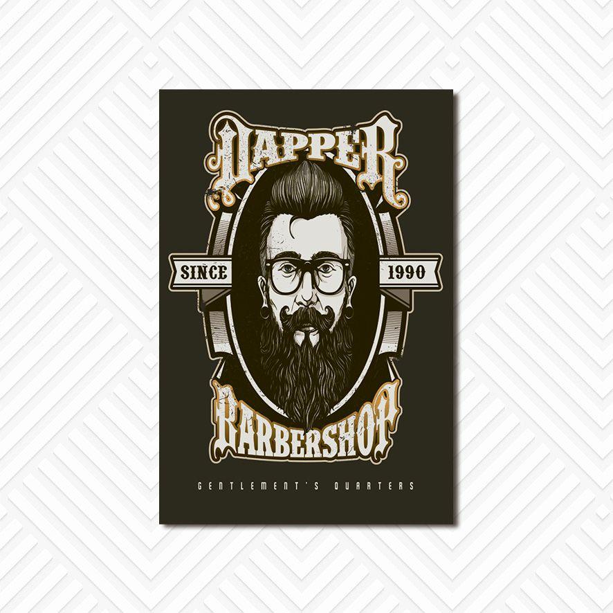 Poster Decorativo Barber Shop PL050