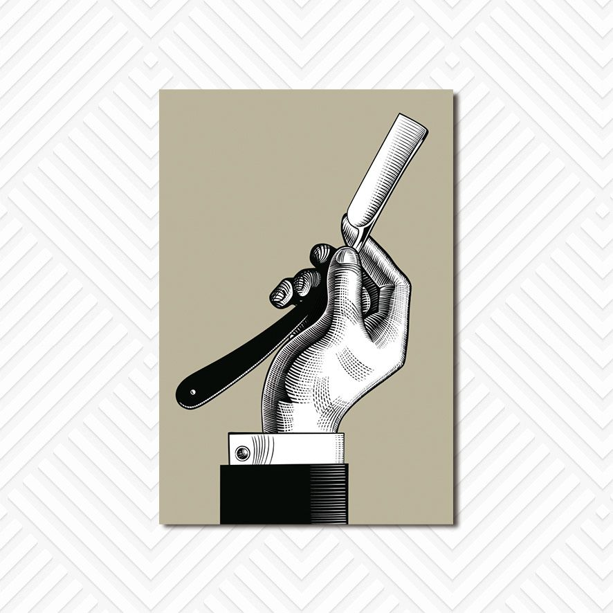 Poster Decorativo Barber Shop PL058