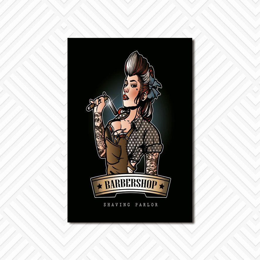 Poster Decorativo Barber Shop PL059