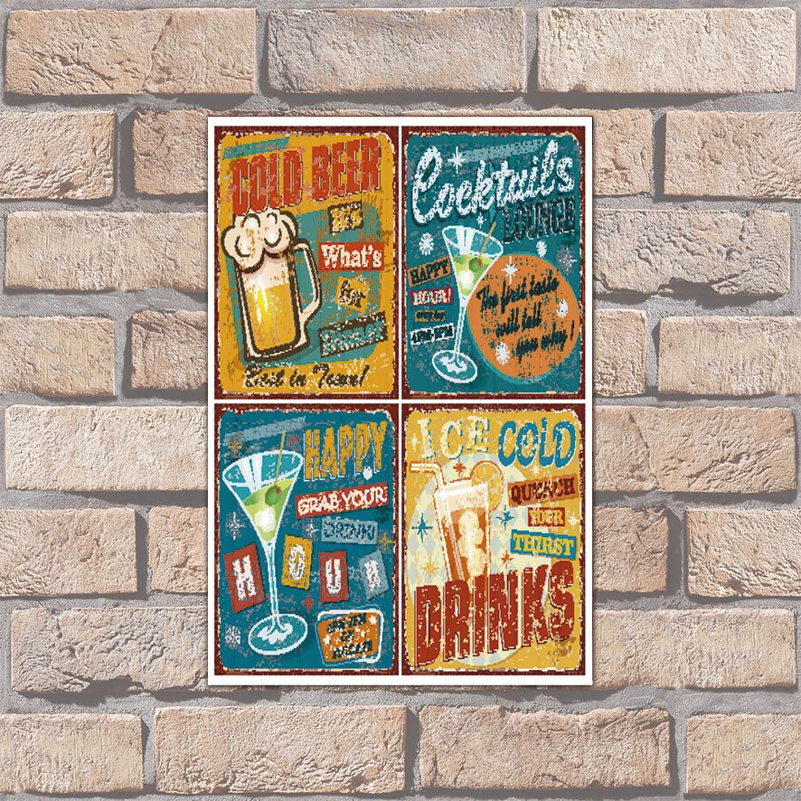 Poster Decorativo Drink Cold Beer PL040