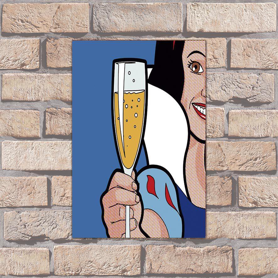 Poster Decorativo Drink Girl PL063