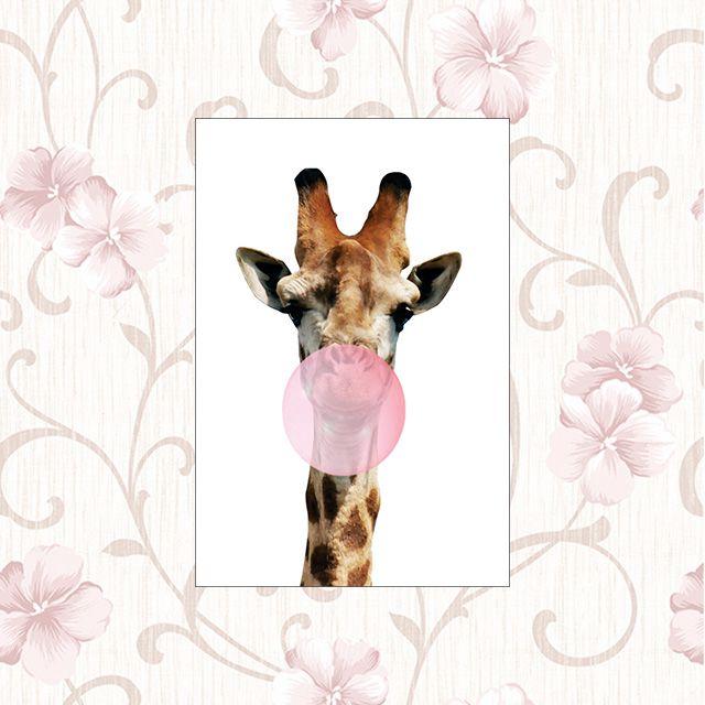 Poster Decorativo Girafa PL310