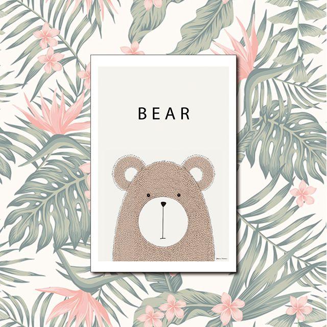 Poster Decorativo Urso PL314
