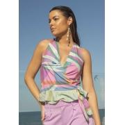 Blusa Dioxes feminina malha verão
