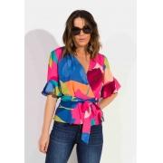 Blusa Dioxes feminina transpasse verão