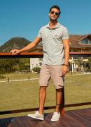 Camisa Polo Dioxes masculina verão estampada