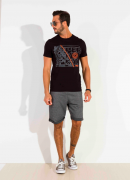 Camiseta Dioxes masculina malha verão estampada