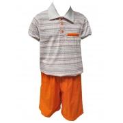 Conjunto Carlan infantil masculino laranja