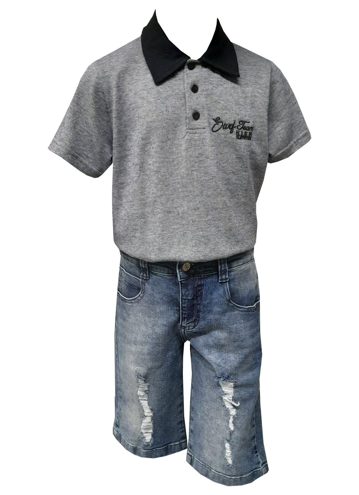 Bermuda Carlan Jeans masculina infantil