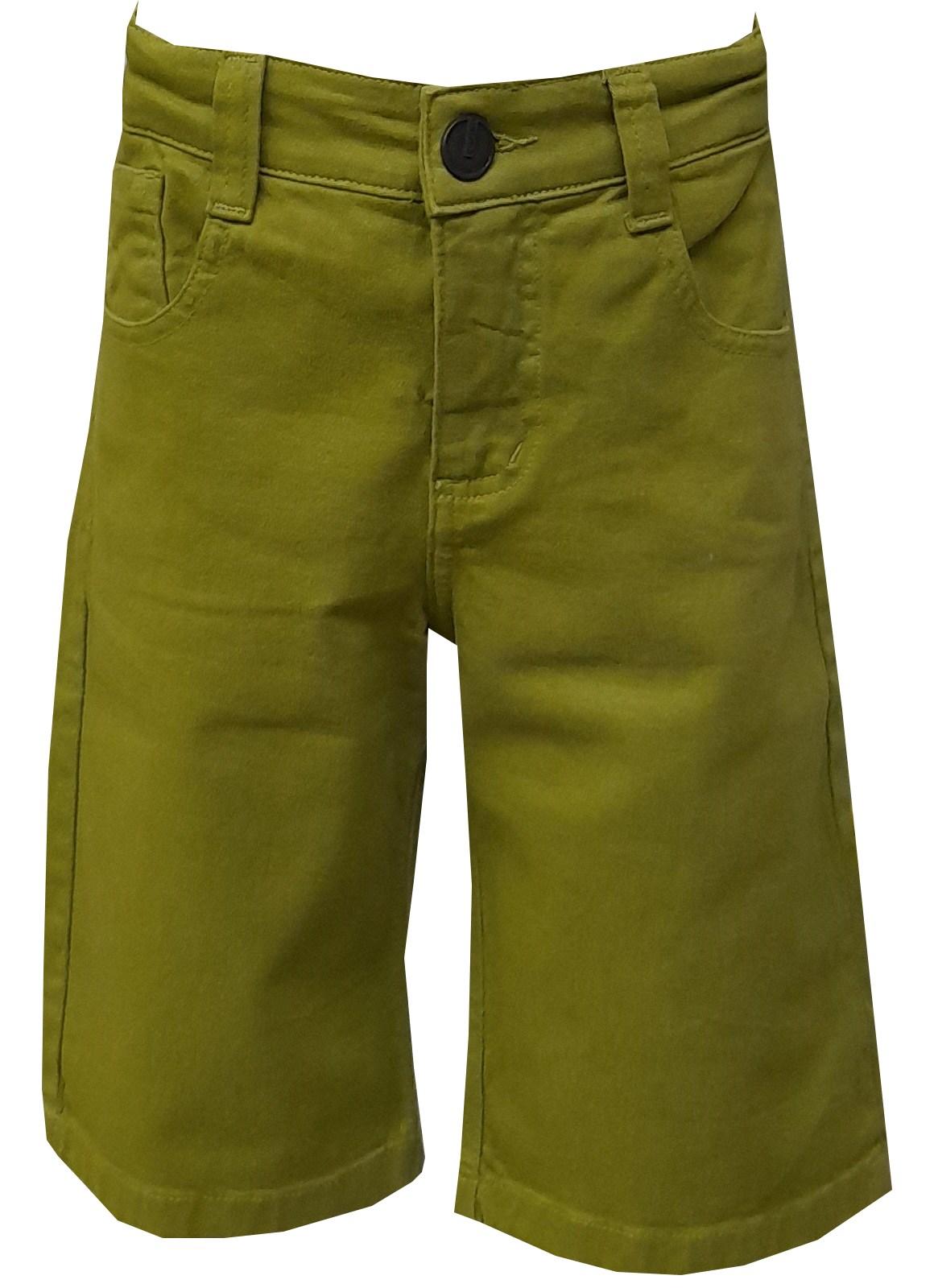 Bermuda Carlan sarja verde masculina infantil